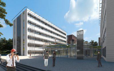 Náhradní komunikační trasy pro pěší v okolí stavby Vzdělávacího komplexu