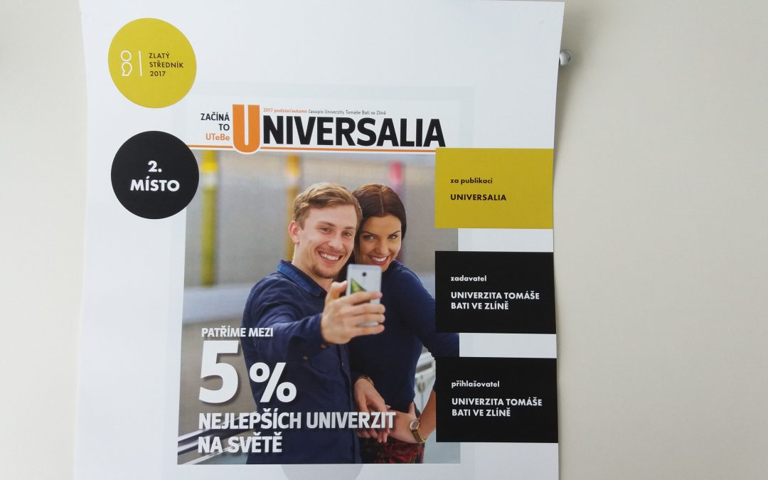 Časopis Universalia uspěl v soutěži Zlatý středník